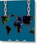 World Map Collection Metal Print