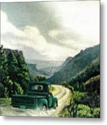 '50 Chevy Pickup In Unaweep Canyon Metal Print