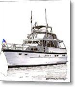 50 Foot Hatteras Motoryacht Metal Print