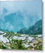 Longji Terraced Fields Scenery Metal Print