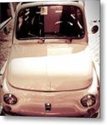 500 Fiat Toned Sepia Metal Print