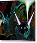 527   Little Alien Being A Metal Print