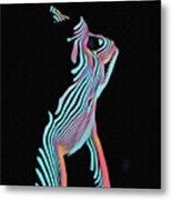 5291s-mak Nude Female Torso Rendered In Composition Style Metal Print