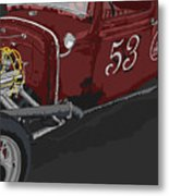 '53 Rat Rod Metal Print