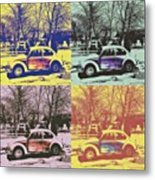 Old Beetle-pop Art Metal Print