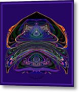 543 - Design Purple Abstract Abstract Metal Print