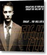 5499 Fight Club Hd S Black Metal Print