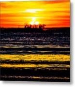 Sunset Bay Beach Metal Print