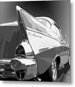 57 Chevy Horizontal Metal Print