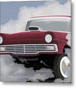 57 Ford Gasser Metal Print