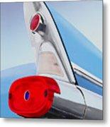 57 Pontiac Tail Fin Metal Print