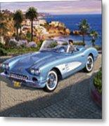 '58 Corvette Roadster Metal Print