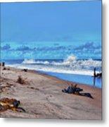 58- Sapphire Surf Metal Print