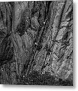 5840- Yellow Mountains Black And White Metal Print