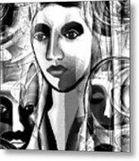 595 -  A Face A ... Metal Print