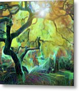 6 Abstract Japanese Maple Tree Metal Print