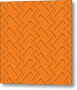 Abstract Orange, White And Red Pattern For Home Decoration Metal Print