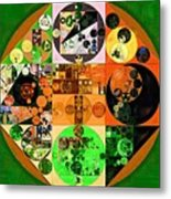Abstract Painting - Lincoln Green Metal Print