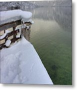 Alpine Winter Reflections Metal Print