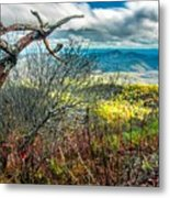 Beautiful Autumn Landscape In North Carolina Mountains Metal Print