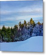 Beautiful Winter Landscape At Timberline West Virginia Metal Print