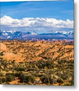 Canyon Badlands And Colorado Rockies Lanadscape Metal Print