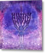 Chanukkah Lights Metal Print