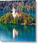 Church Of The Assumption - Lake Bled, Slovenia Metal Print