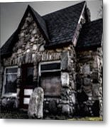 6 Corners Gas Station 2 Metal Print