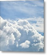 Dramatic Cumulus Clouds With High Level Cirrocumulus Clouds For  Metal Print