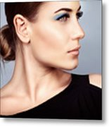 Fashion Woman Portrait Metal Print