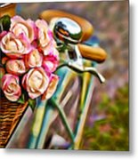Flower Bike Collection Metal Print