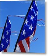 Patriotic Flying Kite Metal Print