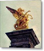 Pegasus In Paris Metal Print