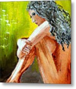 Girl Nude Metal Print