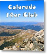 Hikers And Scenery On Mount Yale Colorado Metal Print
