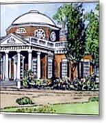 Jefferson: Monticello Metal Print