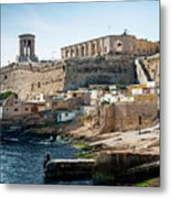 La Valletta Old Town Fortifications Architecture Scenic View In  Metal Print