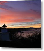 Lighthouse Sunrise Series Metal Print