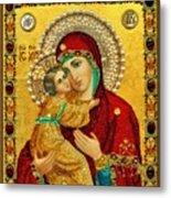 Madonna And Child Christian Art Metal Print