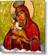 Mary And Child Religious Art Metal Print
