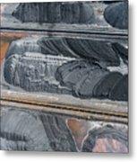 Mining Excavator On The Bottom Surface Mine.  Metal Print