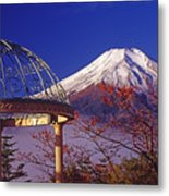 Mount Fuji In Autumn Metal Print