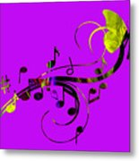 Music Flows Collection Metal Print