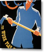 New Deal: Wpa Poster Metal Print