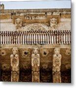 Noto, Sicily, Italy - Detail Of Baroque Balcony, 1750 Metal Print