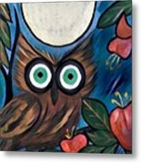 Owl Midnight Metal Print