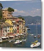 Portofino In The Italian Riviera In Liguria Italy Metal Print