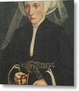 Portrait Of A Lady Holding A Rosary Metal Print