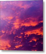Red Cloudscape At Sunset. Metal Print